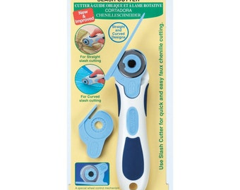 Slash Cutter ~ Special cutter designed to make Faux Chenille cutting fast and easy - from Clover - CLO499