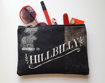 SALE French Hillbilly Clutch Zipper Pouch Zip Purse Southern Accessories Made in Nashville Gift for Her Women Gifts Under 20