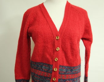Beautiful Vintage Pendleton Wool Cardigan WOmens Size sm/med