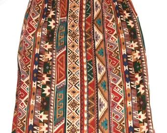 Sooooo 90's Southwestern Print Skirt- Size M