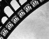 Fine Art photography, Paris, Eiffel Tower Tour, black and white, B&W 8x10, 8x12 architecture, detail, details