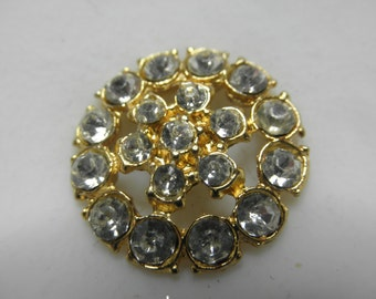 """5 Rhinestone Buttons - All unusual -    Largest is 1"""" smallest is 3/8"""""""