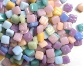 "8mm(5/16"") Pastel Mix TinyGlass Mosaic Tiles-50g//Discount Mosaic Supplies//Mini Glass Tiles//micromosaic"