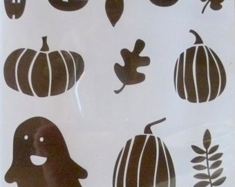 Sale BUNDLE Halloween Fall Fest Retired SU! Stamps and Dies, Stamp, Case & Dies, Ghost, Pumpkins, Pumpkin Faces, Leaves, Sillioutte Shapes