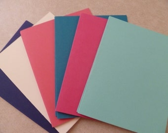 SALE Retired In Colors, Coastal Cabana and Strawberry Slush + SU! Color Collection Blank Cards 5 1/2 X 4 1/4