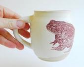 Large 3-Toad Mug - 12oz, coffee, tea, frog, amphibian