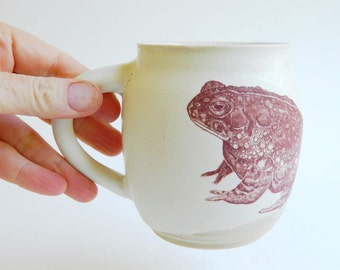 Large 3-Toad Mug - 12oz, coffee, tea, frog, amphibian