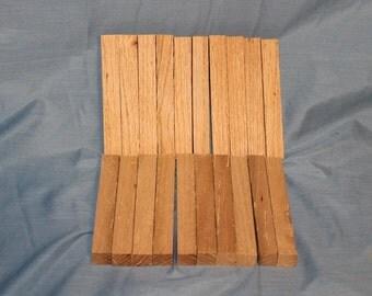 20 Reclaimed Oak Pen Blanks for Sale, Wood Blanks, Pen Turning Blanks, D152