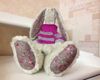 SALE ON! Rabbit from faux fur. 70 cm (height).