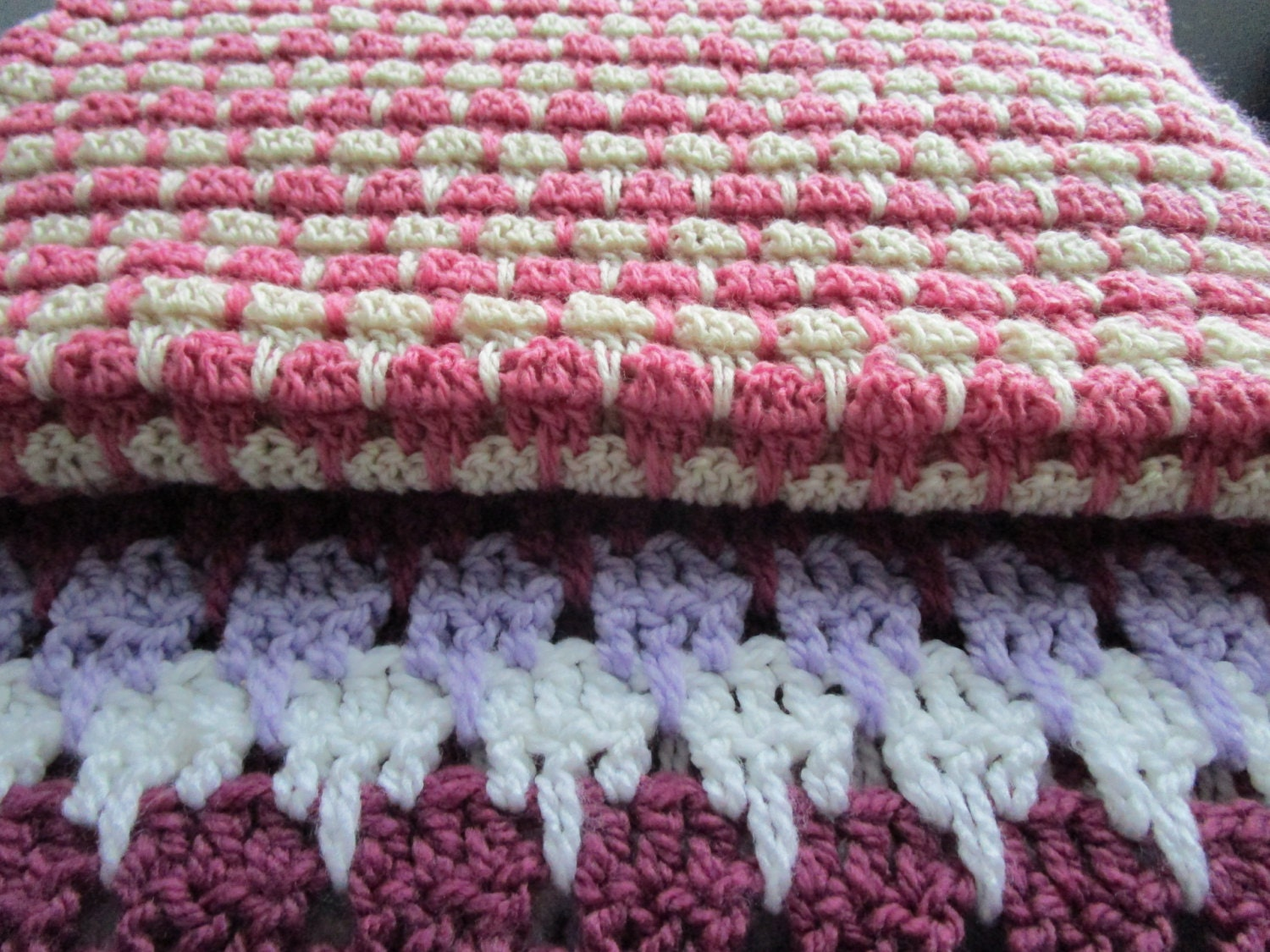 Larksfoot Crochet Baby Blanket Pattern : Easy Crochet Blanket Pattern Arcade Stitch Larksfoot Stitch