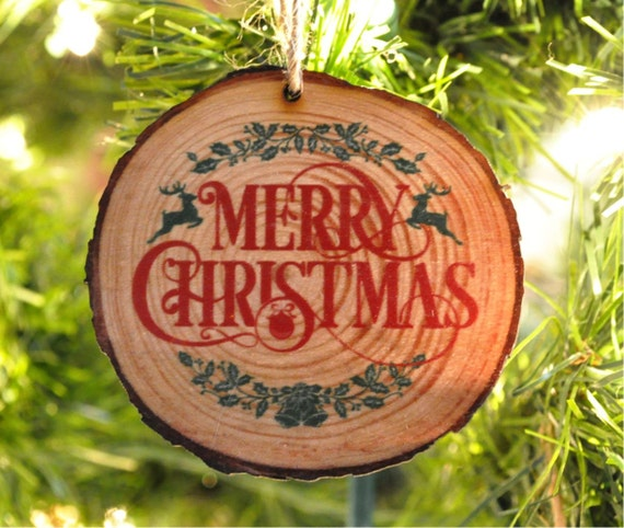 Wood Slice Ornament Laser Engraved Personalized Christmas Ornament
