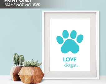LOVE DOGS - Art Print (Featured in Caribbean) Love Animals Art Print and Poster Collection