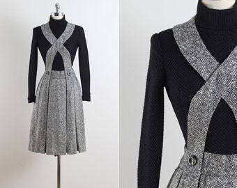 Reserved /// Donald Brooks . vintage 1960s dress . vintage wool dress . 5610