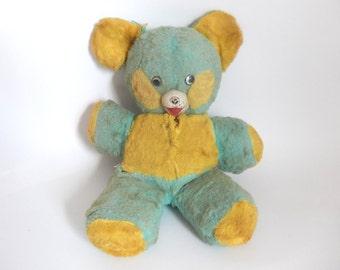 Mid Century 1950's Tattered & Torn Children's Teddy Bear