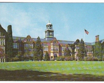 Stephens Hall Towson University Towson Maryland 1960s postcard