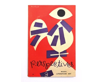 Alvin Lustig & Paul Rand magazine design. Perspectives USA (Issue 3, Spring 1953) published by James Laughlin