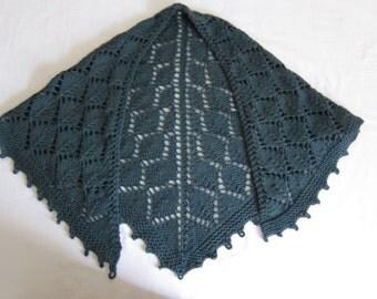 Leaf Lace-Knit Shawl