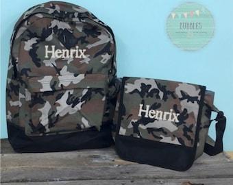 Camo Backpack Set