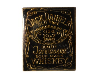 vintage Jack Daniels Old No 7 Tennessee Whiskey metal enamel pin brewery beer
