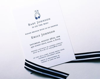 Sweet + Simple Baby Shower Invitations with optional matching thank you notes & adhesive, customized bookplates