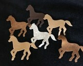Felt Horse Die Cut-DIY Horse Ornaments-Felt Horse Appliques-DIY Kids Craft Kits-Rodeo Western Theme Party-Garland Decor-Quiet Books-Horses