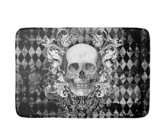 Baroque Skull Harlequin Bath Mat