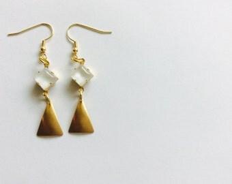 Vintage Beauty-Brass Earrings