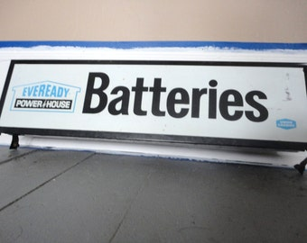 Old Metal Battery Sign