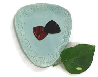 Guitar Pick Holder / Guitar Pick Spoonrest - Pale Blue - Ready to Ship