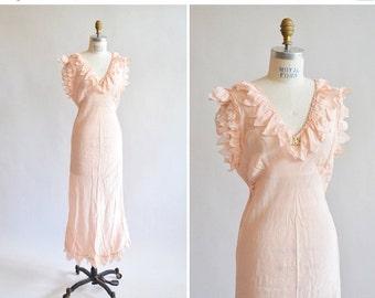 30% OFF STOREWIDE / Vintage 1940s SILK slip dress