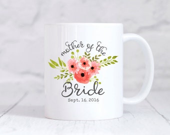 Mother of the Bride Gift from Bride Mother of the Bride Mug Mother of the Bride Wedding Gifts for Mom Wedding Gift Ideas Floral Peach