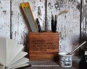 Anais Nin Small Desk Caddy by Peg and Awl
