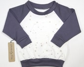 Zodiac Constellations | Stars | Organic Kids Raglan | Hand Made | Long Sleeve | Unisex Kid | Baby Sweater | Gender Neutral | Hipster Babies