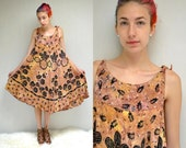 Batik Dress  //  70s SunDress  //  LADY CACTUS
