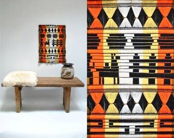 Ethnic Wall Hanging  //  Woven Textile Art  //  ALPACA TRAIN