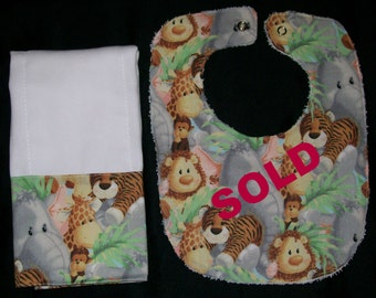 Burp Cloth/Jungle Babies is Ready to Ship