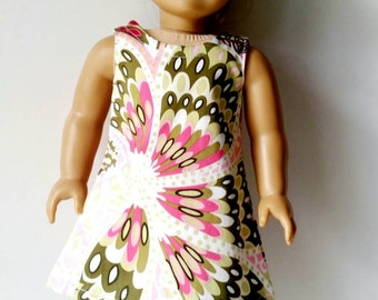 American Girl Doll Dress. AG doll clothes. 18 inch doll. Shift dress.