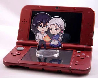 Howl's Moving Castle acrylic stand - Howl and Sophie (Black)