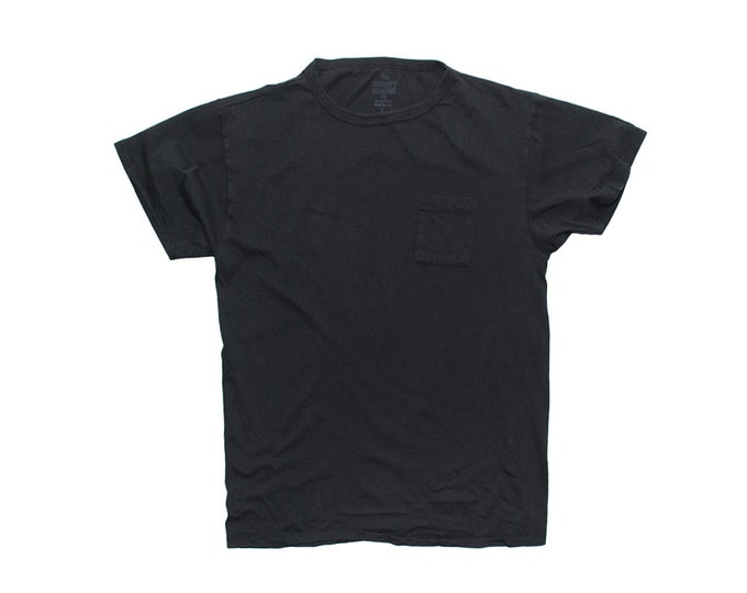 QMC California Pocket Tee - Black - 100% Cotton Jersey T-Shirt