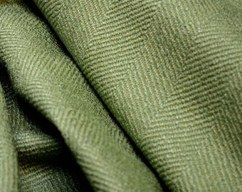 Green Herringbone Upholstery Fabric Jumper Aloe