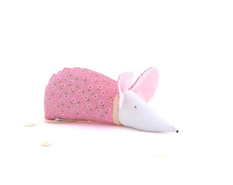 Organic lavender sachet kawaii cute home decor pink mouse