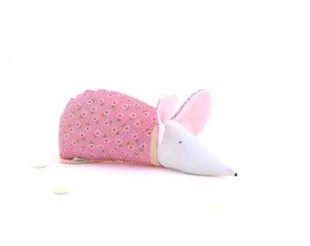 Organic lavender sachet kawaii cute home decor pink mouse