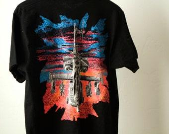 vintage 90s BLACKBIRD tron epic flight HELICOPTER t-shirt