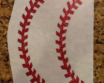 Glitter Baseball or Softball Laces Heat Transfer- DIY
