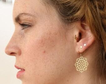 Mandala Earrings, Bohemian Earring, Filigree Earring, Bohemian Jewelry, Geometric Earring, Sacred Geometry, Mandala Jewelry, Hindi Earring