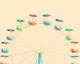 ferris wheel art rainbow wall art toddler room carnival art baby room rainbow wall decor nursery photography ferris wheel print rainbow art