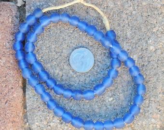Ghana Glass Beads: Carolina Blue 10mm