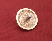 Brass vintage coin spinning top, desk toy EDC