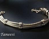 Men Silver bracelet,Man Jewelry,Unisex Jewelry,Gift for him,silver bracelet women,Tribal bracelet,Bohemian,Vintage inspired Taneesi YB135