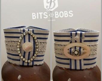 Men's Shirt Cuff Bracelet Rhinestone Mother of Pearl Buckle Cuff